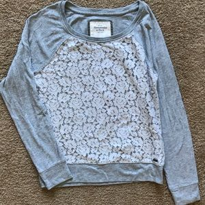 Abercrombie and Fitch Lace Front Sweatshirt